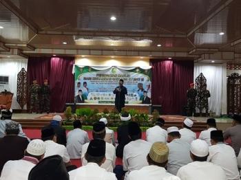 Ketua panitia Maulid Nabi Muhammad Saw, Mahmud, saat menyampaikan garis besar kegiatan di Aula Rumah Jabatan Wali Kota Palangka Raya, Rabu (13/12/2017) malam.