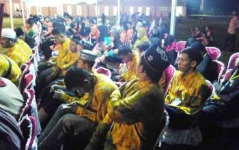 Para kafilah yang akan mengikuti MTQ VIII Kabupaten Pulang Pisau.