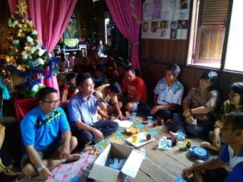 Anggota DPRD Kapuas Habibi saat reses di Desa Tarantang, Kecamatan Mantangai, Kamis (14/12/2017).