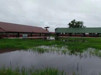 Sekolah di Kapuas yang terendam banjir