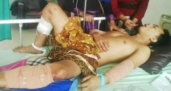 Korban saat sedang dirawat di RSUD Murjani Sampit