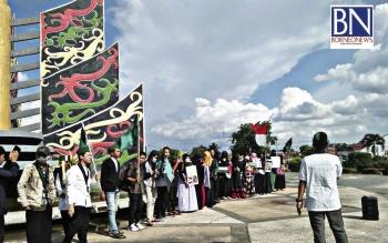 HMI Cabang Kapuas Gelar Aksi Pernyataan Sikap Bela Palestina