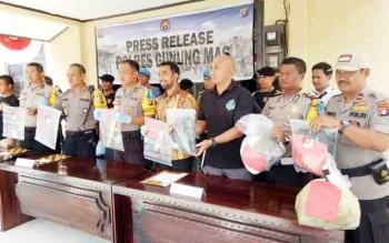 2017, Kasus Narkoba Paling Menonjol di Kabupaten Gunung Mas