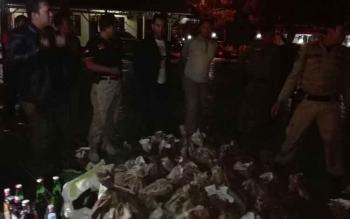 Rasakan! Pemilik 43 Karung Miras Terciduk Polisi
