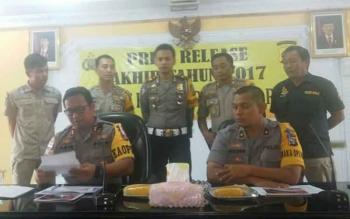Polres Kobar Rilis Data Tindak Kriminal Sepanjang 2017