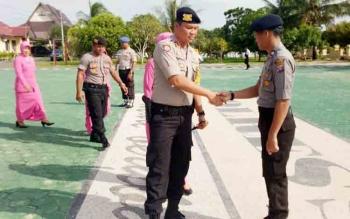Polres Seruyan Gelar Upacara Korps Rapor Kenaikan Pangkat