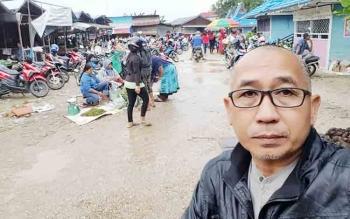 Kawasan Relokasi Pedagang Pasar Bebas Banjir Becek