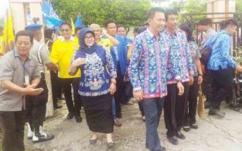 Nadalsyah - Sugianto, Pasangan Pertama yang Mendaftar ke KPU Barito Utara