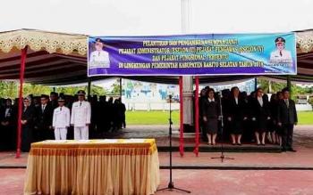 Ratusan Pejabat Eselon III Dan IV Pemkab Barito Selatan Dilantik