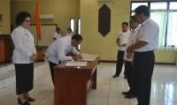 Wakil Bupati Barsel Pimpin Sertijab Pejabat Struktural
