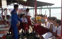 Ditpolair Kalteng Bangun Pondok Baca di Tepi Sungai Mentaya