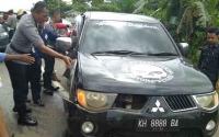 Mobil Rombongan Polres Kotim Terlibat Kecelakaan di Pelantaran