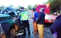 Mobil Berpenumpang Anggota Panwaslu Lamandau Tabrakan di Km 19 Satu Korban Tewas