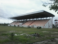 Tribun Stadion Sport Center Kasongan Gelap Gulita Saat Malam Hari