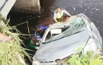 Mobil Avanza Nyemplung Sungai