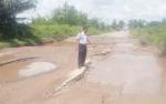 Rusak Parah, Akses Jalur Lingkar Selatan Sampit Bakal Dialihkan