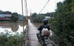 Warga Desa Telangkah Harap Jembatan Gantung Tidak Dibongkar