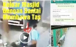 Maling Tas Jemaah di Masjid Baiturrahim Sampit Terekam CCTV