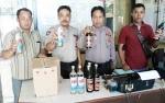 Jajaran Polsek Katingan Hilir Amankan 24 Botol Minuman Keras