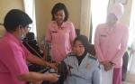 Peduli Kanker Serviks, Bhayangkari Tes IVA di Lapas Perempuan Palangka Raya