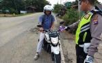 Satlantas Polres Barito Selatan Tindak Tegas Aksesoris Kendaraan Tidak Standar