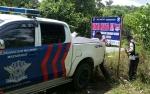 Satlantas Polres Barito Utara Pasang Spanduk Keselamatan