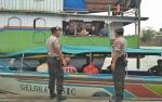 Berikan Rasa Aman, Aparat Polres Barito Utara Cek Pelabuhan Speed Boat