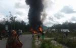 Mobil Tangki BBM Terbakar di Tewah