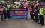 Jajaran Satlantas Polres Kobar Sosialisasikan Operasi Keselamatan Telabang di Arena CFD