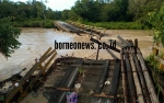 Jembatan Sungai Rawi Kembali Rusak Diterjang Arus Sungai