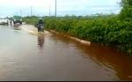 Hujan Deras, Jalan Pangkalan Bun . Kolam Kembali Kebanjiran