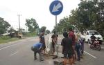 Lagi-Lagi Pengendara Tabrak Barrier di Jalan Tjilik Riwut