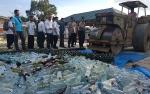 Hampir 2.000 Botol Minuman Keras Dimusnahkan Polres Kotim