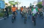 Kapolda Dan Danrem Meriahkan HUT Bhayangkara dengan Sepeda Santai