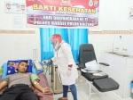 Polres Barito Selatan Laksanakan Bakti Kesehatan Donor Darah