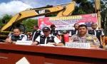 8 Excavator Diamankan Polda Kalteng Dari Aktivitas PETI