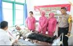 Polres Katingan dan Anggota Bhayangkari Gelar Aksi Donor Darah Peringati Hari Bhayangkara