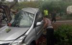 Kecelakaan Tunggal Mobil Hantam Pohon, ASN Kotim Dilarikan ke Puskesmas