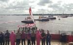 Ini Pesan Bupati Kotim Pascapembentangan Merah Putih di Sungai Mentaya