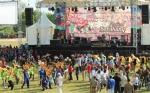 Ini Penampakan Kemeriahan Parade Defile Pembukaan Festival Babukung 2018