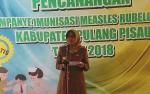Pj Bupati Pulang Pisau Canangkan Kampanye Imunisasi Campak dan Rubella