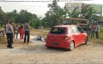 Suzuki Thunder Tabrak Toyota Agya karena Rem Blong