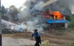 Rumah Bekas Bengkel di Jalan Tjilik Riwut Km 8 Terbakar
