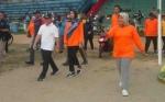 Gubernur Kalteng dan Bupati Kobar Senam Bersama Masyarakat Peringati Hari Olahraga Nasional