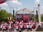 Relawan Jokowi Deklarasi Akbar di Tugu Soekarno Palangka Raya