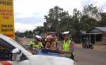 Satlantas Polres Bartim Patroli di Titik Rawan Kecelakaan