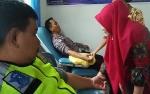 Polres Bartim Adakan Donor Darah dan Anjangsana Sambut HUT Lalu Lintas Bhayangkara ke-63