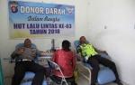 Peringati HUT Lalu Lintas, Anggota Satlantas Polres Gumas Gelar Donor Darah