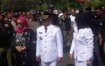 Penyambutan Bupati Seruyan dan Wakilnya Berlangsung Meriah