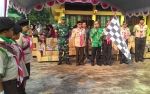 Bupati Sakariyas Lepas 692 Peserta Gerak Jalan Peringatan HUT Pramuka